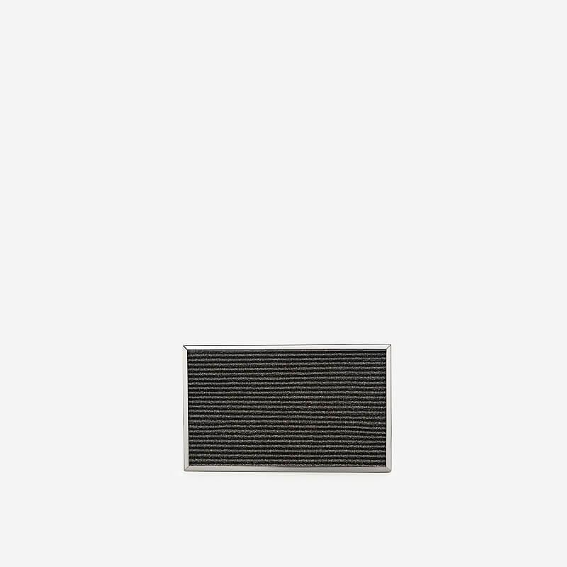 VASCARA - Ví Hộp Ánh Nhũ Dập Nổi - CLU 0057 - Màu Xám Khói Đậm