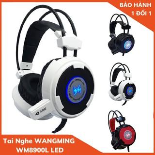 Tai Nghe Chụp Tai , Tai Nghe Gaming có Mic Wang Ming 8900L có Led Headphone WangMing 8900L LED