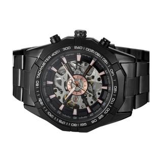 Đồng hồ nam Forsining TM340 automatic lộ máy (Full Đen)