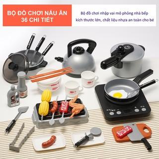 Đồ chơi nấu ăn nhà bếp 36 món Đồ chơi cho bé trai, bé gái Đồ chơi trẻ em an toàn DC001 thumbnail