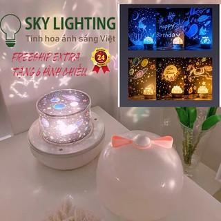 Đèn ngủ chiếu sao cổ tích đại dương sinh nhật xoay tự động LED lãng mạn làm quà tặng cho bé trang trí phòng ngủ