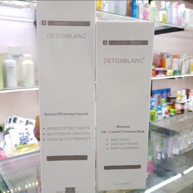 Combo tắm trắng da mặt và body detoxblanc