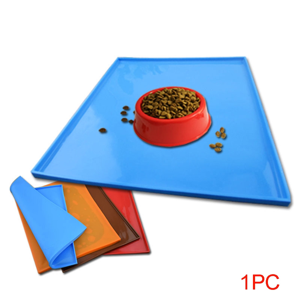 Feeding Mats Pet Spillproof Silicone Dog Cat Non Slip Tray