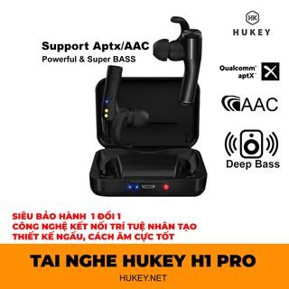 Tai nghe true wireless HUKEY H1 không dây hoàn toàn - true 3D sound- Super bass-đập chết PAMU slide, scroll, funcl AI thumbnail
