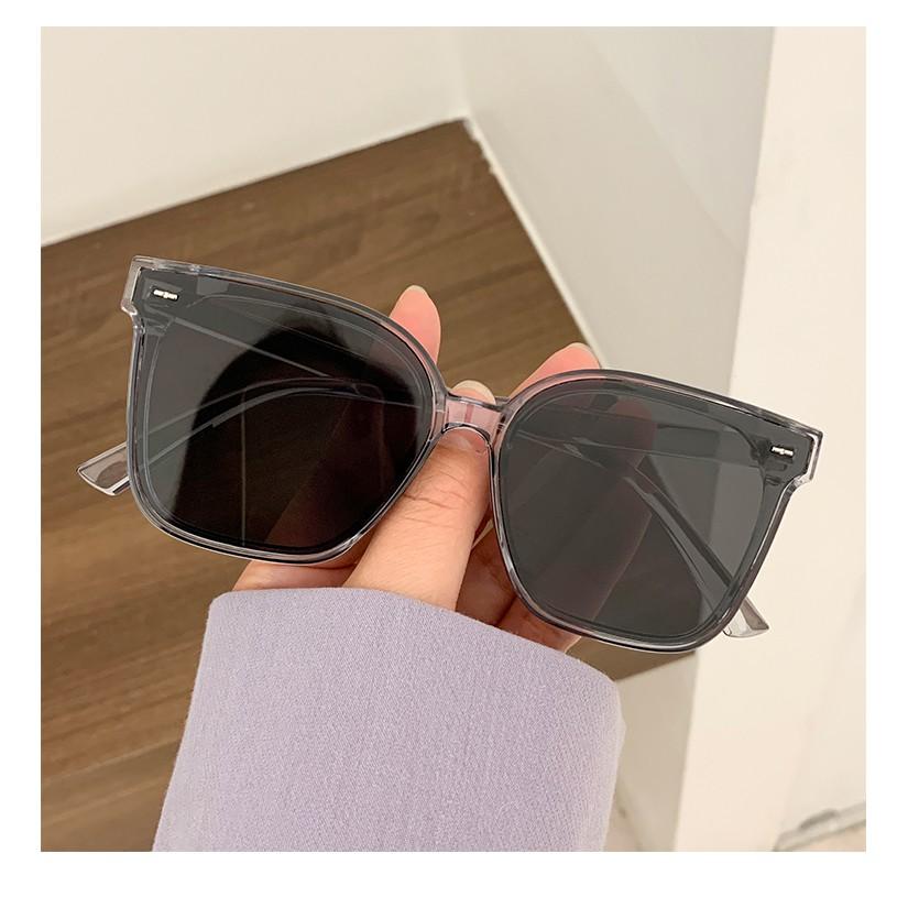 2021 New Retro Square Frame Sunglasses Women's Network Hong Models Big Face Round Face Slim Street Shoot Wild Sunglasses