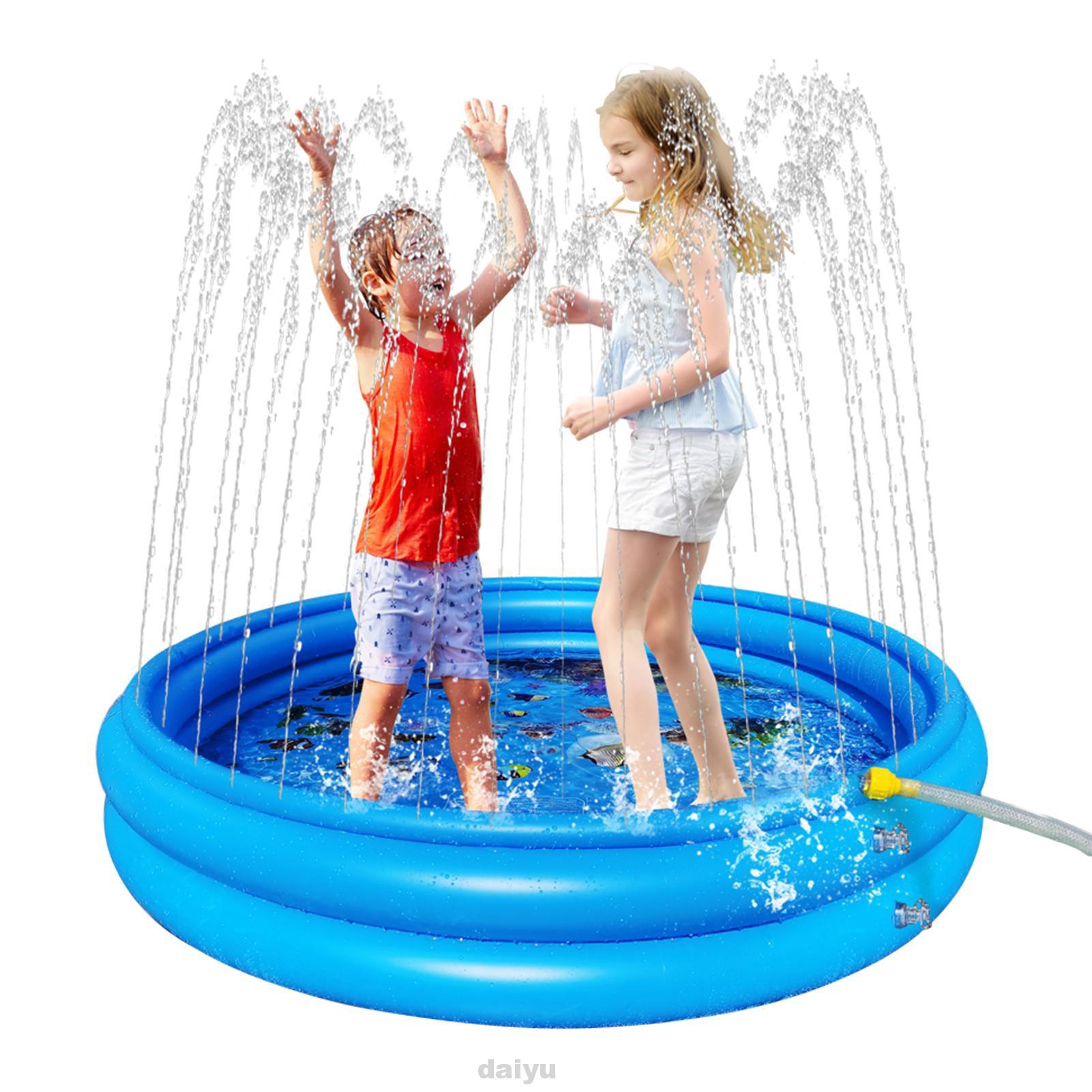 Boys Girls Round Swimming For Kids Outside PVC Backyard 3 Layers Inflatable Splash Pad