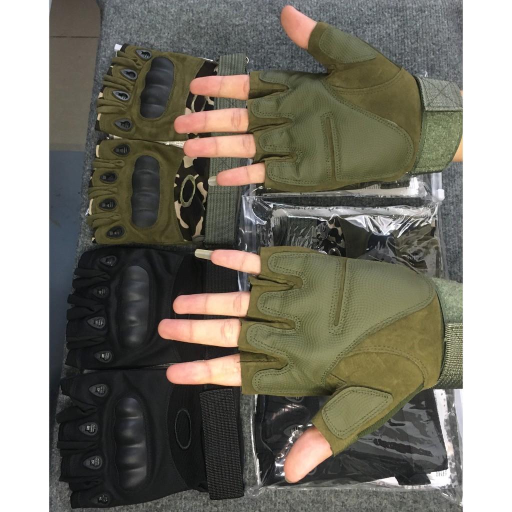 Bán sỉ - Găng tay xe máy cao cấp OAK - BLACK.H - Bao tay thể thao, chiến thuật cao cấp