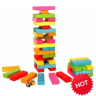 [GIÁ RẺ VÔ ĐỊCH] Bộ đồ chơi rút gỗ 48 thanh màu