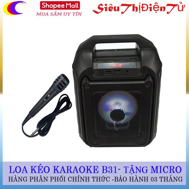Loa kéo B31 cầm tay karaoke tặng micro siêu bền