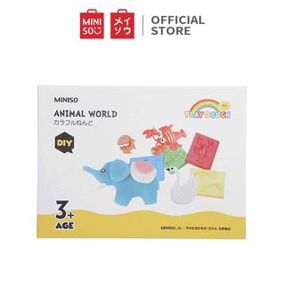 Đồ chơi đất sét Miniso Animal World Modeling Dough (Nhiều màu) - Hàng chính hãng
