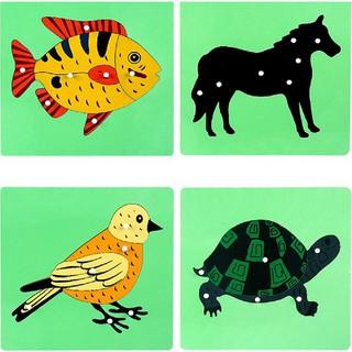 Bảng ghép tranh Montessori đồ chơi giáo dục trẻ mần non
