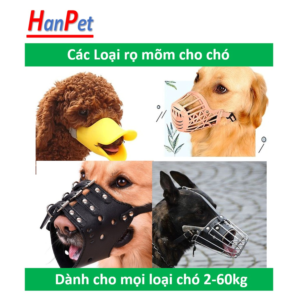 Rọ mõm chó (nhiều phân loại) dùng để rọ cho chó từ 2kg đến 60kg chất liệu bằng rọ inox hoặc rọ da lẫn rọ mõm nhựa|Da mõm dài [43cm]