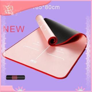 【Hàng sẵn sàng】 Thảm tập Yoga Định tuyến chuẩn dày 10mm Chống trơn trượt – Tặng kèm túi đựng