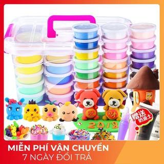 【ẢNH_THẬT】Bộ đất nặn 36 màu sắc dành cho bé giúp bé thỏa sức sáng tạo tặng kèm hộp khuôn