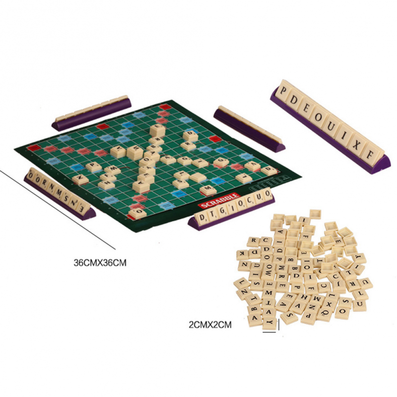 Scrabble Tile Crossword Board / Family Game (sahibba) Non-carrom Permainan Budak Early Learning Educational Toy