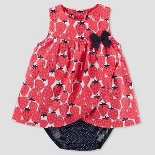 [3M] Váy carter đỏ dâu tây chip