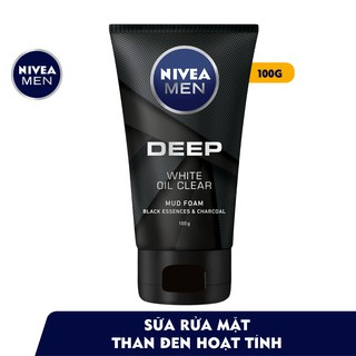 Sữa rửa mặt Nivea Men Deep White Oil Clear 100g - 84415