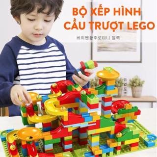 [HÀNG CHẤT LƯỢNG] Bộ xếp hình lego cầu trượt thả bi cho bé