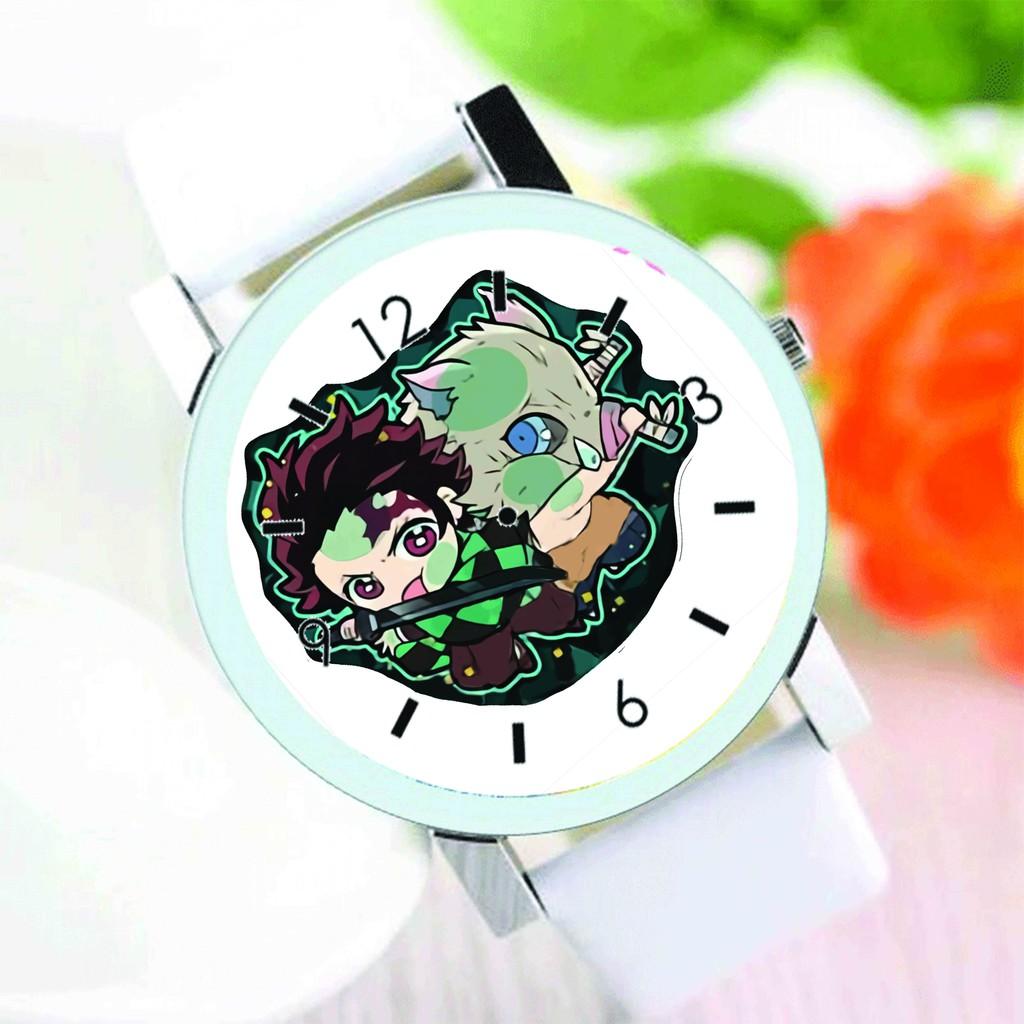 Đồng hồ đeo tay nam nữ in hình KIMETSU NO YAIBA Thanh Gươm Diệt Quỷ anime chibi thời trang dễ thương độc đáo M1