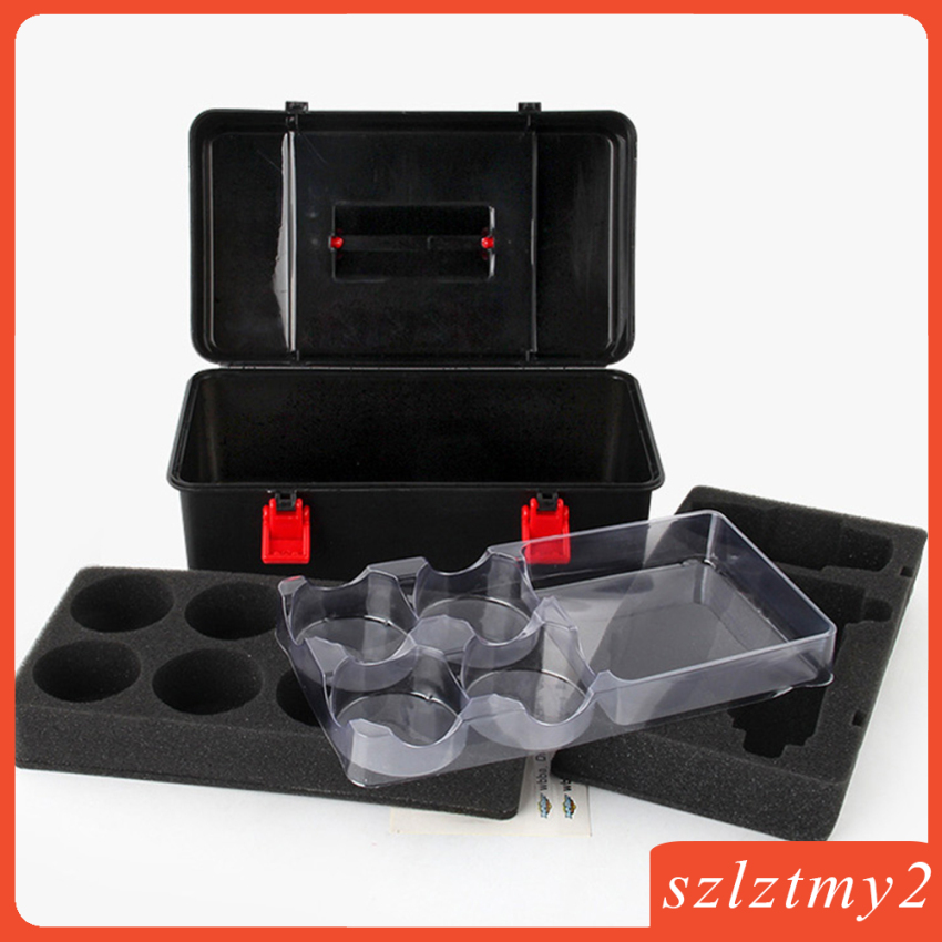 [galendale] 12Pcs Burst Spinning Top Suitcase Set with Grip Launcher Character Toy Gift
