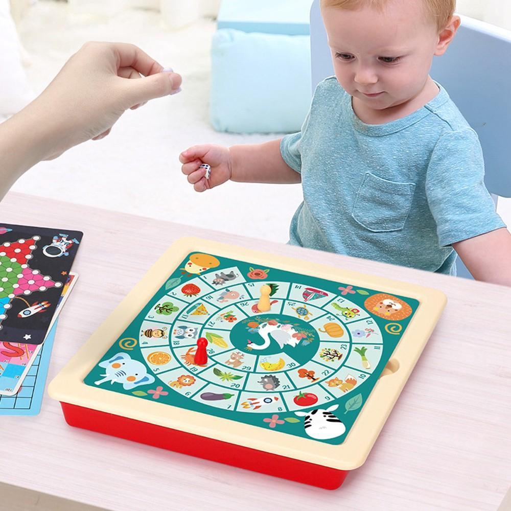 Bộ Trò Chơi Board Game 8 Trong 1 Cho Bé