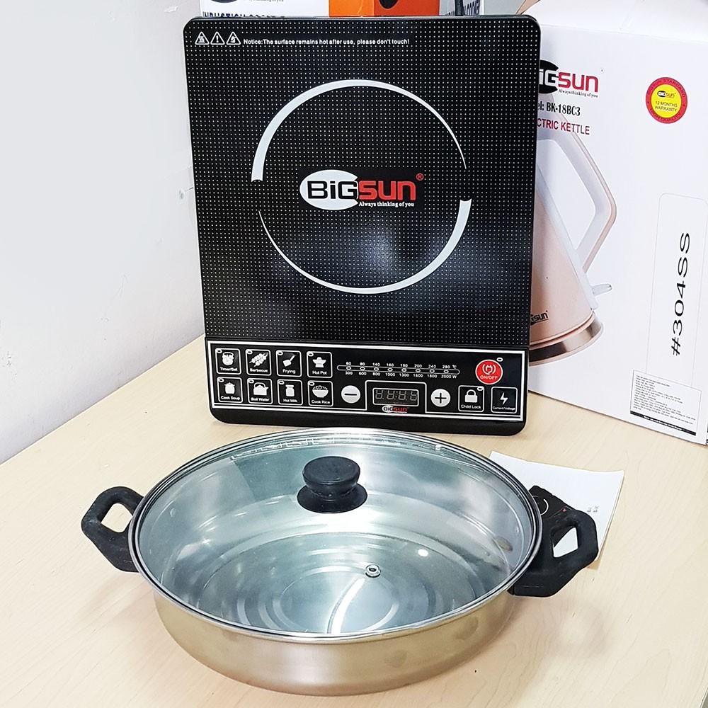 Bếp điện từ 2000W Bigsun BI-1 tặng kèm nồi lẩu đa năng