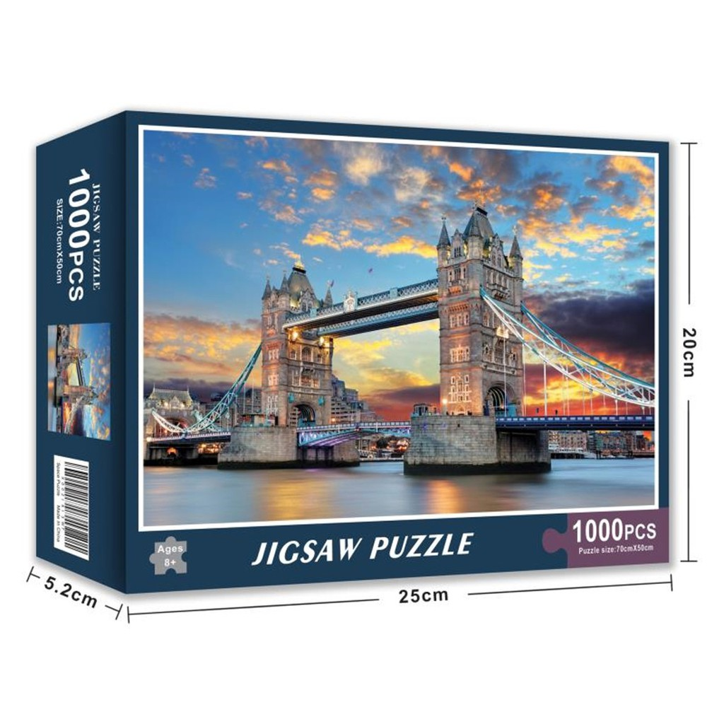 Tranh ghép hình 1000 mảnh nhiều mẫu kích thước 70*50cm, Jigsaw Puzzle 1000 PCS
