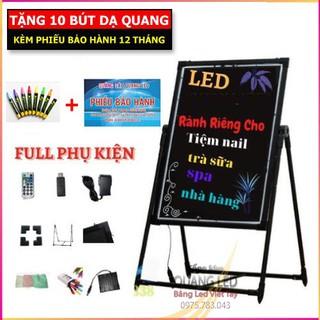 Bảng Led Huỳnh Quang, Bảng Viết Dạ Quang 60x80cm, 50x70cm, 30x40cm ( Tặng kèm chân giá + 10 bút + Điều khiển + khăn lau) thumbnail