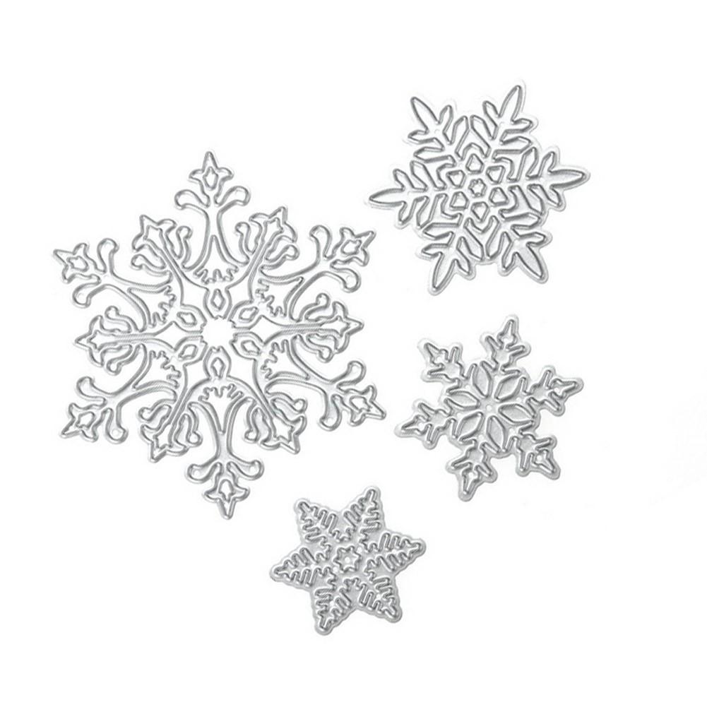 ♥superH♥4 Pcs Snowflake Scrapbooking Album Cutting Dies Moulds DIY Scrapbook Decor Craft