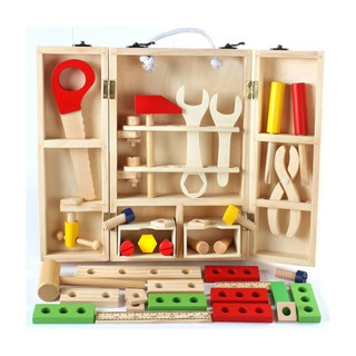 Đồ chơi giáo dục hướng nghiệp hộp công cụ gỗ cho bé tập làm kỹ sư sửa chữa - Tủ ốc vít Kagonk
