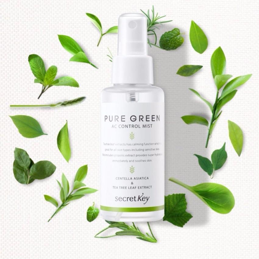 Xịt Khoáng Giữ ẨmSecret Key Pure Green AcControl Mist