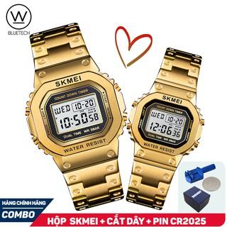 Đồng hồ Đôi SKMEI 1456/1433 điện tử dây thép không gỉ