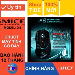 Chuột Gaming Imice X8 Chính hãng Led đổi màu Độ nhạy 3200 DPI Bảo hành 12 tháng thumbnail