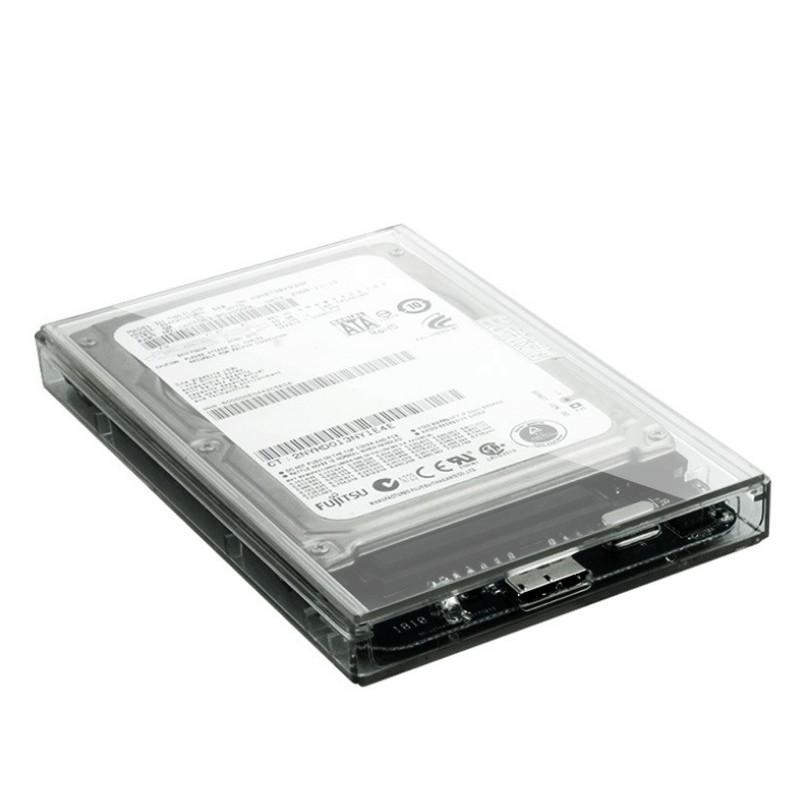 Hộp Đựng Ổ Cứng HDD BOX 2.5 inch SATA USB 3.0 Trong Suốt Tỏa Nhiệt Tốt TS-U03