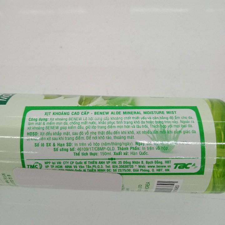 Xịt khoáng cao cấp Benew Aloe Mineral Moisture Mist 150ml