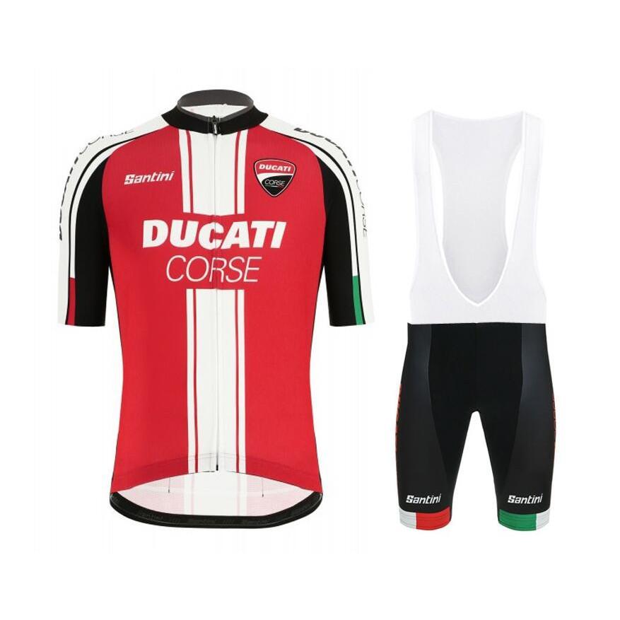 Set Quần Áo Tay Ngắn Cho Vận Động Viên Xe Đạp Ducati 2021