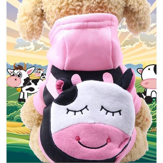 [RẺ NHẤT HÀ NỘI] Áo nỉ 2 chân túi đồng xu Bò Sữa cho thú cưng BÁN CHẠY