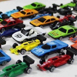Quà cho bé, ô tô trẻ em, đồ chơi ô tô, bộ 50 ô tô sắt cho bé