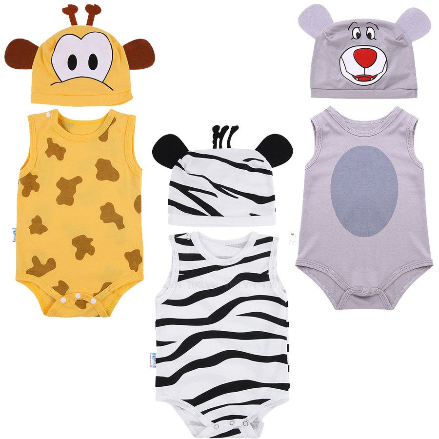 Combo 3 Bộ Bodysuit Cho Bé Chia Set Sẵn - Mihababy - BDS_MIX