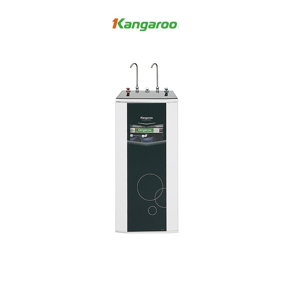 Thiết bị lọc nước Kangaroo RO 2 vòi, 10 lõi KG10A3 vỏ tủ VTU màu xanh(kèm  carton)