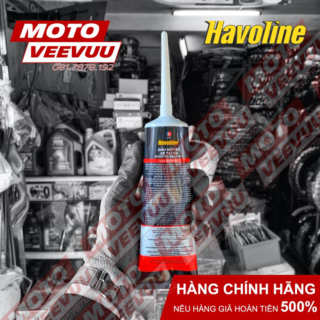 Nhớt hộp số nhớt láp Caltex Havoline 80W90 120ml