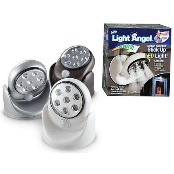 ĐÈN CẢM Ứng LIGHT ANGEL -7 LED- XOAY 360 độ-ĐI WA ĐÈN SÁNG