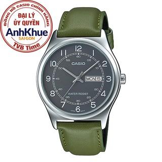 Đồng hồ nam dây da Casio Standard chính hãng Anh Khuê MTP-V006L-3BUDF (38mm)