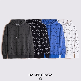 Balen ciga Full letter printed fashionable hooded sweater for men and women