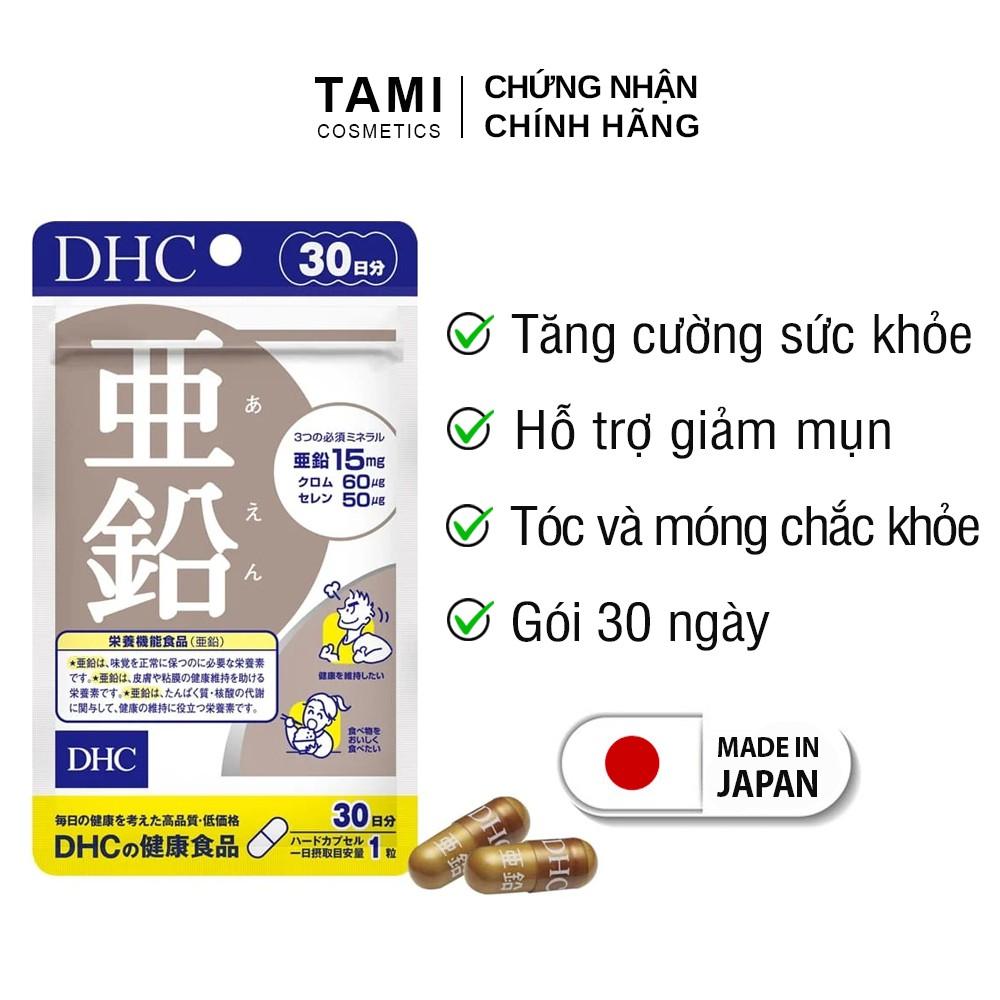 Viên uống kẽm DHC Nhật Bản hỗ trợ giảm mụn tăng cường đề kháng thực phẩm chức năng Zinc 30 ngày TM-DHC-ZIN30