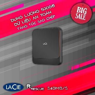 Ổ Cứng SSD Di Động LACIE STHK500800 500GB USB-C + SRS 540MB S [Chính Hãng] thumbnail