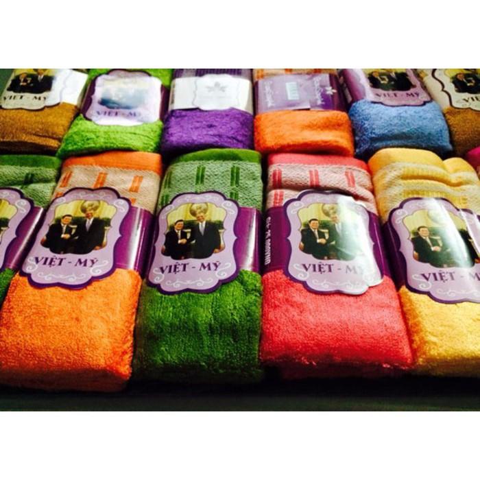 Combo 12 chiếc khăn mặt Việt Mỹ nhiều màu sắc