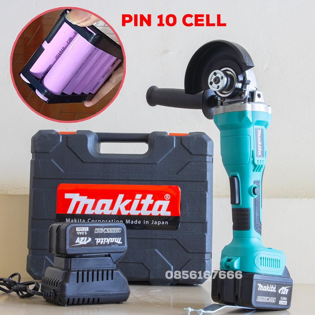 Máy Mài Pin Makita 72V - Cò Bấm - Động cơ BL Motor Không Than - 2 Pin 10 Cell, Máy cắt sắt, tường, gỗ - 100% Đồng