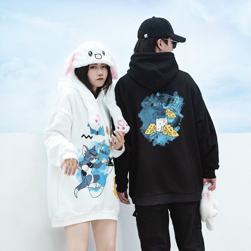 Áo hoodie unisex form rộng chất vải nỉ ngoại dày dặn T&J cực chất thời trang học đường