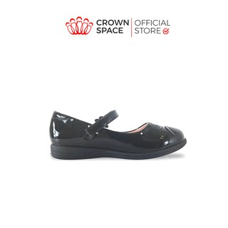 Giày Búp Bê Đen Đi Học Bé Gái Crown Space UK School Shoes CB3024 Cao Cấp Nhẹ Êm Thoáng Mát Size 28-36 4-14 Tuổi thumbnail
